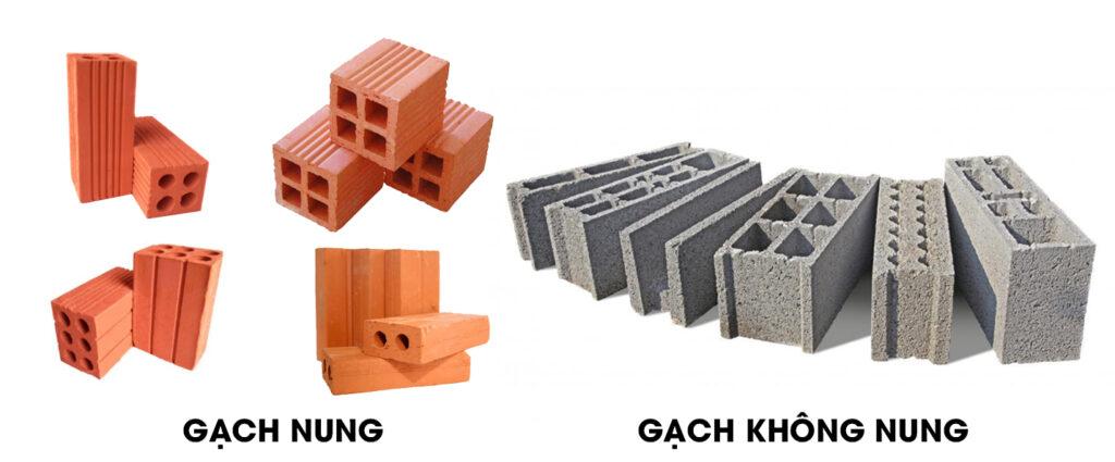 Các loại gạch phổ biến