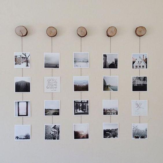 Treo các bức ảnh bằng gỗ tạo ra cảm giác thân thiện nhẹ nhàng hơn