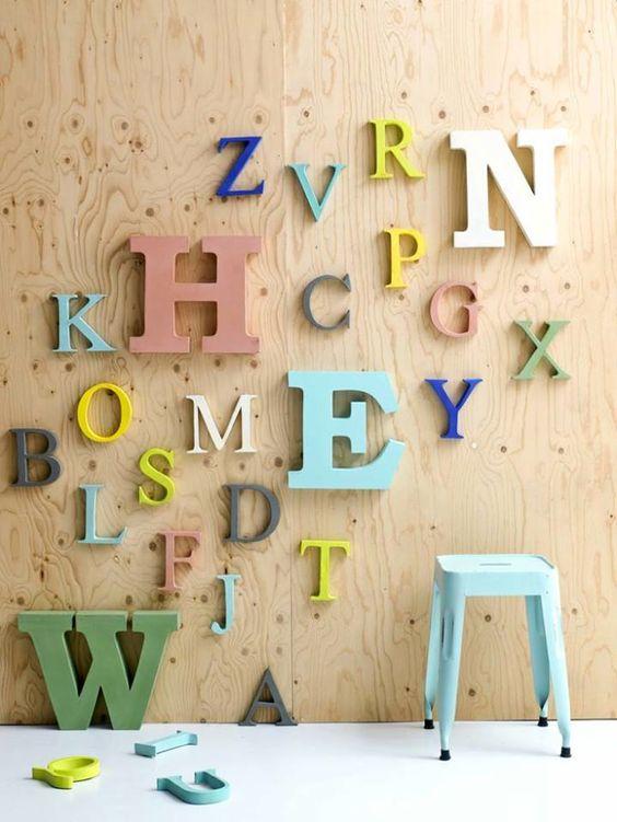 Trang trí chữ bằng nhựa